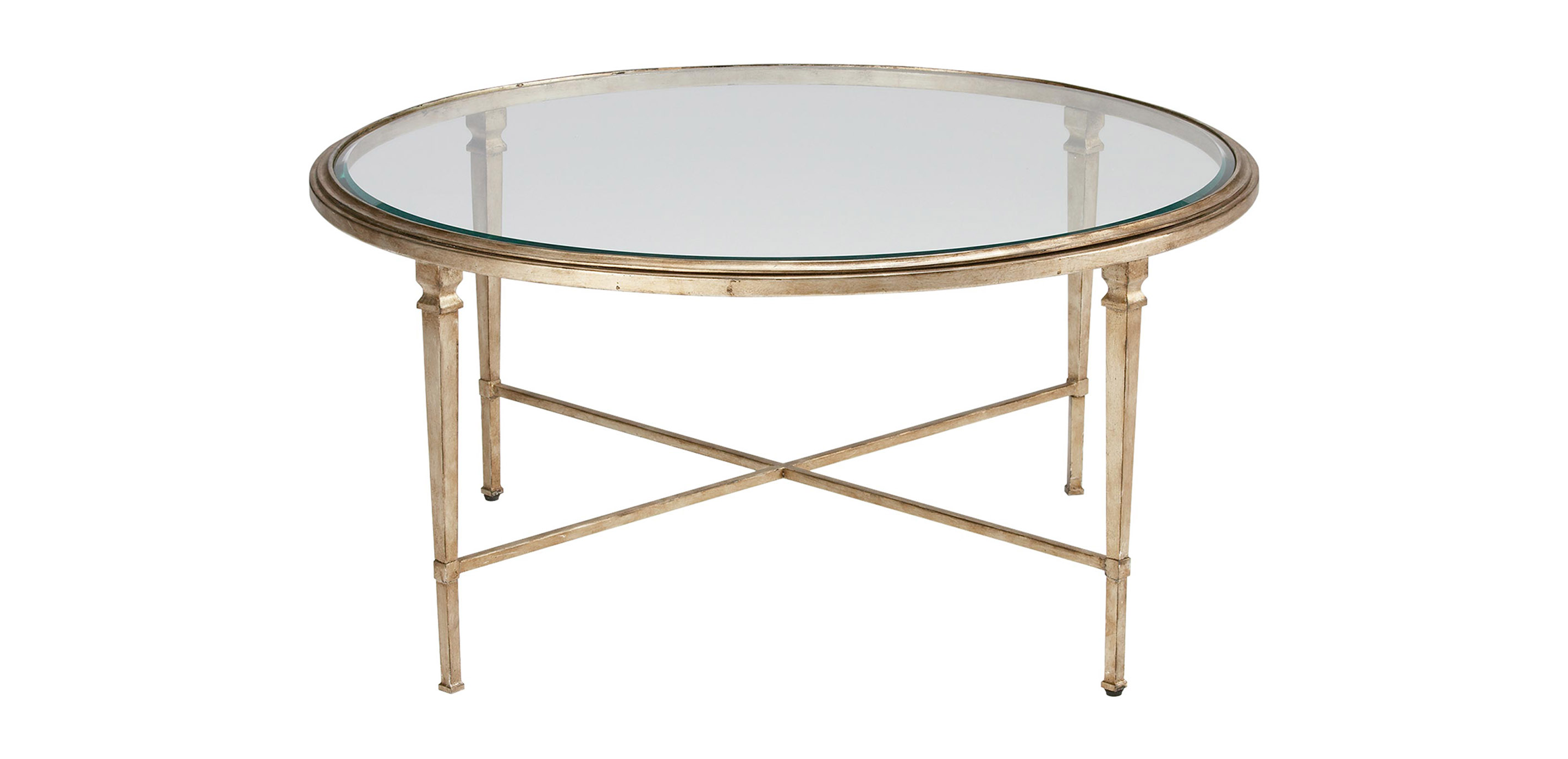Heron round coffee table ethan allen What to put on a round coffee table