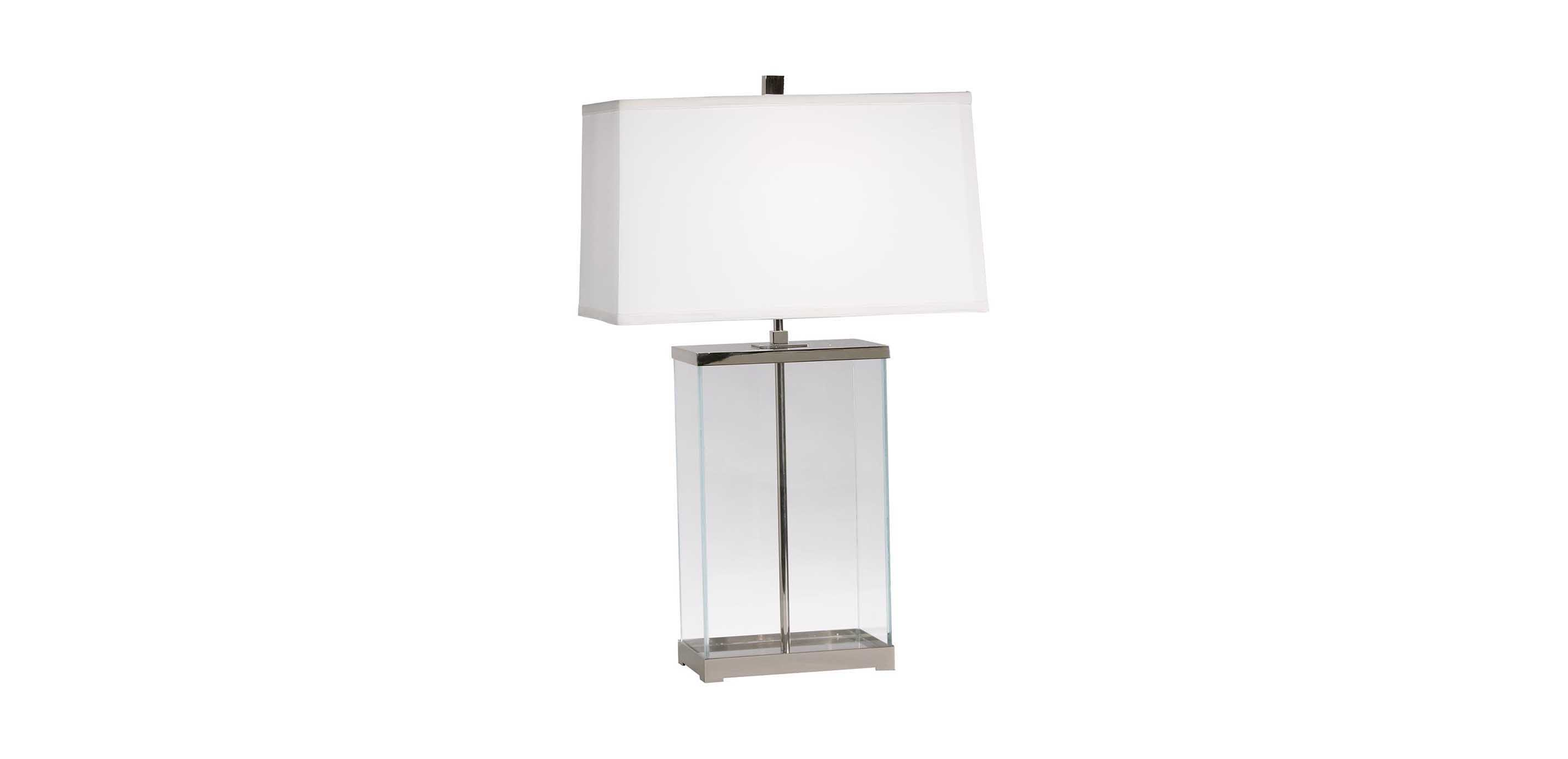 Rectangular Glass Table Lamp Ethan Allen